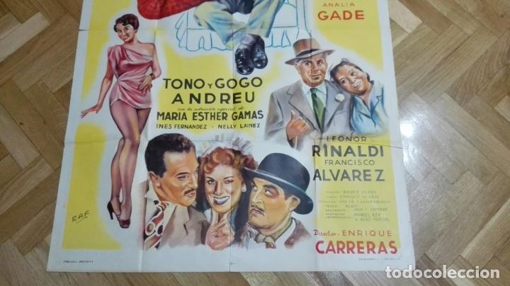 Cine: POSTER SUEGRA ULTIMO MODELO CON JUAN CARLOS THORRY Y ANALIA GADE, MEDIDAS 74 X 110 CM - Foto 2 - 169150796