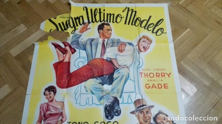 Cine: POSTER SUEGRA ULTIMO MODELO CON JUAN CARLOS THORRY Y ANALIA GADE, MEDIDAS 74 X 110 CM - Foto 4 - 169150796