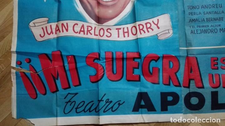 Cine: POSTER MI SUEGRA ES UNA FIERA, JUAN CARLOS THORRY Y ANALIA GADE, TEATRO APOLO, MEDIDAS 144 X 110 CM - Foto 2 - 169151324