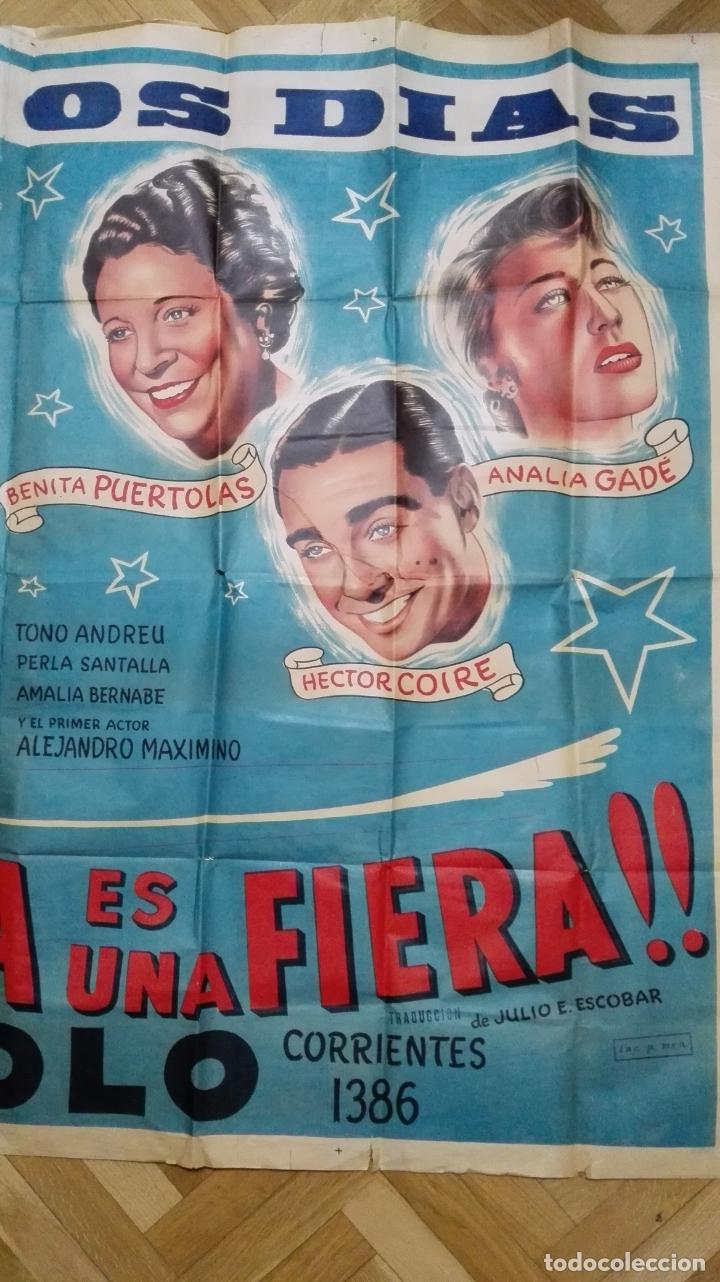 Cine: POSTER MI SUEGRA ES UNA FIERA, JUAN CARLOS THORRY Y ANALIA GADE, TEATRO APOLO, MEDIDAS 144 X 110 CM - Foto 4 - 169151324