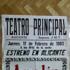 Cine: POSTER TEATRO PRINCIPAL CON ANALIA GADE, MEDIDAS 64 X 87 CM. Lote 169152504