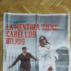 Cine: POSTER LA MENTIRA TIENE CABELLOS ROJOS CON ANALIA GADE Y ARTURO FERNANDEZ, MEDIDAS 70 X 100 CM. Lote 169153284