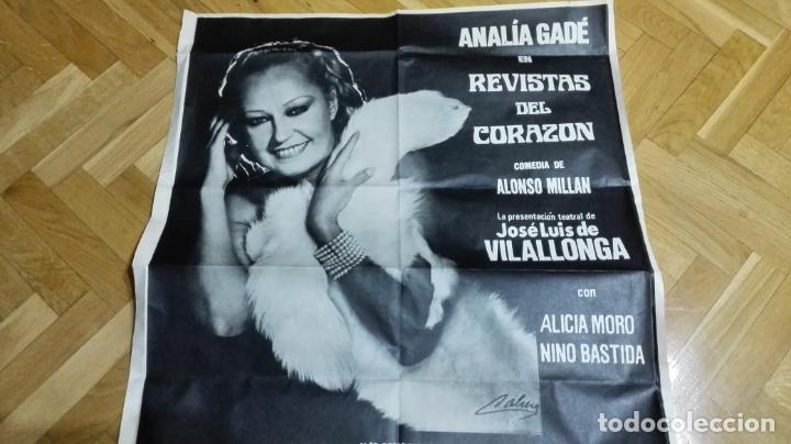 Cine: POSTER REVISTAS DEL CORAZON CON ANALIA GADE, MEDIDAS 65 X 87 CM - Foto 2 - 169154104