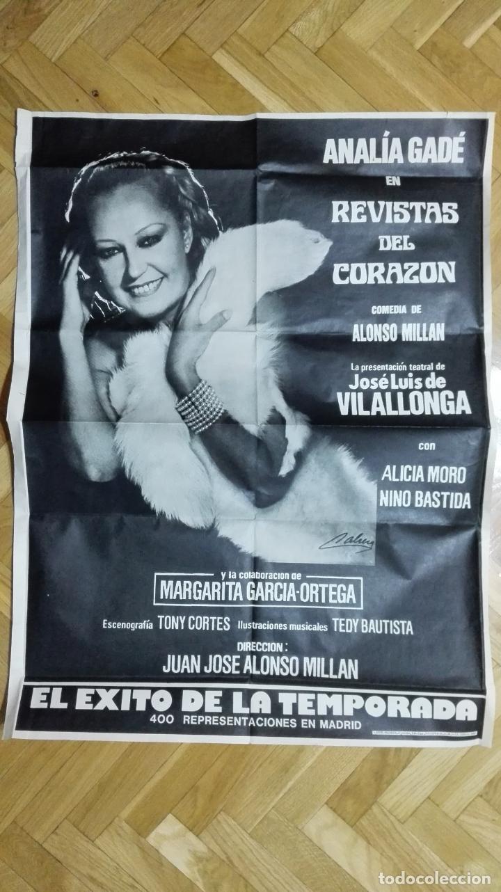 POSTER REVISTAS DEL CORAZON CON ANALIA GADE, MEDIDAS 65 X 87 CM (Cine - Posters y Carteles - Clasico Español)