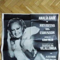 Cine: POSTER REVISTAS DEL CORAZON CON ANALIA GADE, MEDIDAS 65 X 87 CM. Lote 169154104