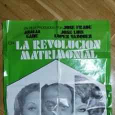 Cine: POSTER LA REVOLUCION MATRIMONIAL CON ANALIA GADE Y JOSE LUIS LOPEZ VAZQUEZ, MEDIDAS 70 X 100 CM. Lote 169155212