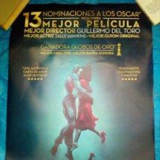 Cine: CARTEL CINE LA FORMA DEL AGUA - GUILLERMO DEL TORO - 98X68. Lote 169224264
