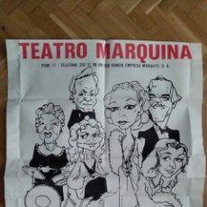 Cine: POSTER, REVISTAS DEL CORAZON, CON ANALIA GADE, TEATRO MARQUINA. Lote 169258284
