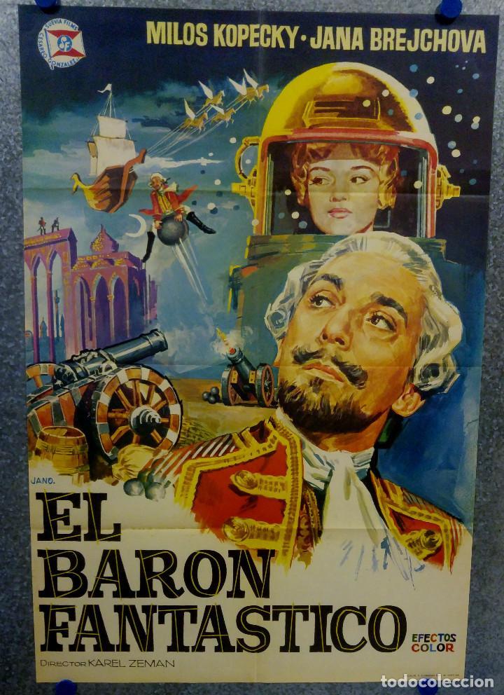 EL BARON FANTASTICO. MILOS KOPECKY, JANA BREJCHOVA. AÑO 1965 POSTER ORIGINAL (Cine - Posters y Carteles - Ciencia Ficción)