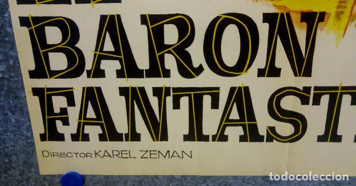 Cine: EL BARON FANTASTICO. MILOS KOPECKY, JANA BREJCHOVA. AÑO 1965 POSTER ORIGINAL - Foto 5 - 169309880