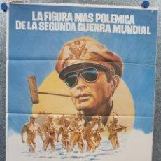 Cine: MACARTHUR, EL GENERAL REBELDE. GREGORY PECK, DAN O'HERLIHY. AÑO 1977. POSTER ORIGINAL. Lote 169351444