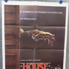 Cine: HOUSE, UNA CASA ALUCINANTE. WILLIAM KATT, GEORGE WENDT, RICHARD MOLL AÑO 1986. POSTER ORIGINAL. Lote 169427332