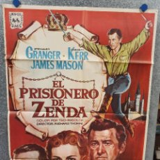 Cine: EL PRISIONERO DE ZENDA. STEWART GRANGER, JAMES MASON, DEBORAH KERR AÑO 1967. POSTER ORIGINAL. Lote 169428552