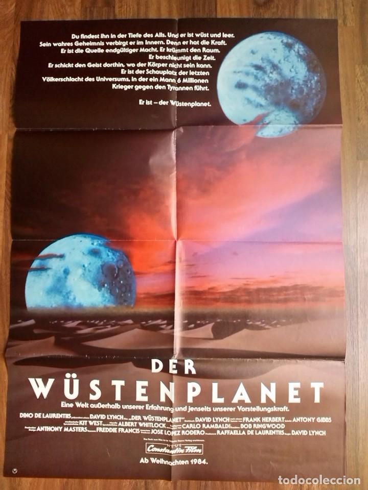 1984-DUNE-POSTER CARTEL CINE PELICULA ORIGINAL-GRANDE-DAVID LYNCH. 84X60 CM (Cine - Posters y Carteles - Ciencia Ficción)