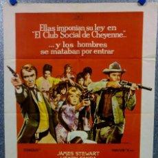 Cine: EL CLUB SOCIAL DE CHEYENNE. JAMES STEWART, HENRY FONDA, SHIRLEY JONES. AÑO 1970 POSTER ORIGINAL. Lote 169574936