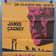 Cinéma: LA LEY DE LA HORCA. JAMES CAGNEY, IRENE PAPAS, VIC MORROW POSTER ORIGINAL. Lote 169576164