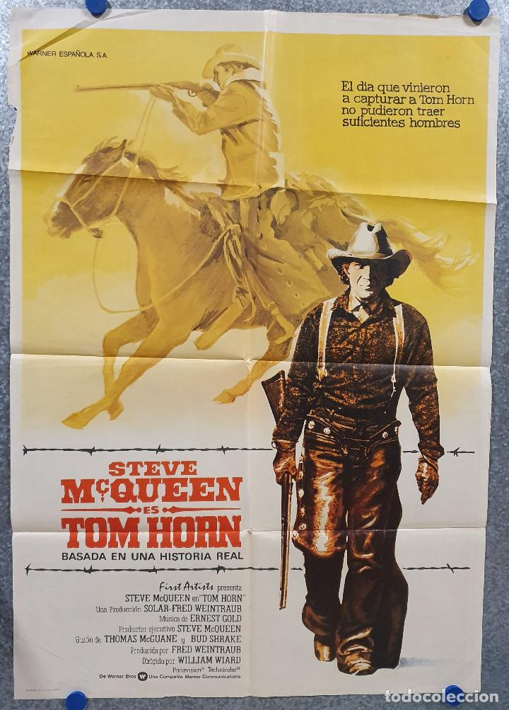 TOM HORN. STEVE MCQUEEN, RICHARD FARNSWORTH AÑO 1980. POSTER ORIGINAL (Cine - Posters y Carteles - Westerns)