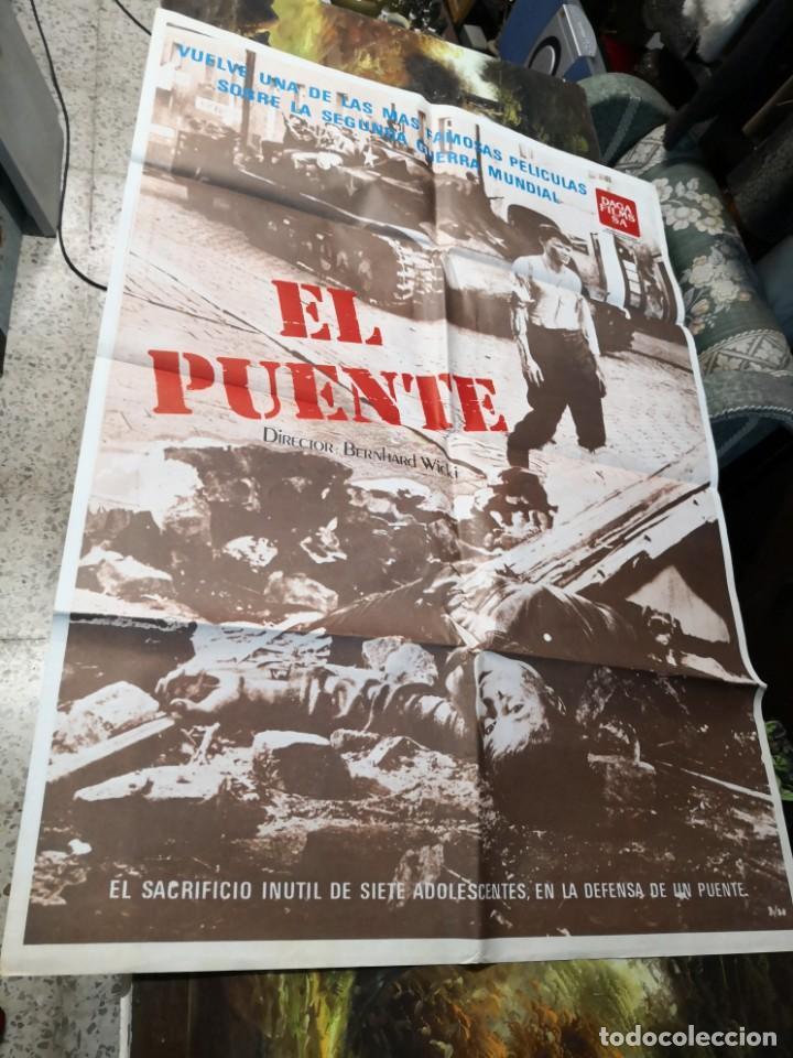 PÓSTER, CARTEL DE CINE EL PUENTE BERNHARD WICKI. UNA SE LAS MÁS FAMOSAS PELÍCULAS 2ª GUERRA MUNDIAL (Cine - Posters y Carteles - Bélicas)