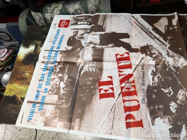 Cine: Póster, cartel de cine EL PUENTE Bernhard Wicki. Una se las más famosas películas 2ª guerra mundial - Foto 2 - 169699816