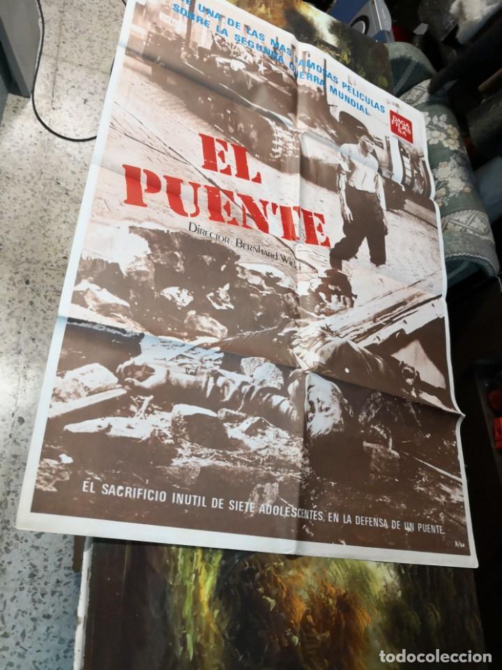 Cine: Póster, cartel de cine EL PUENTE Bernhard Wicki. Una se las más famosas películas 2ª guerra mundial - Foto 3 - 169699816