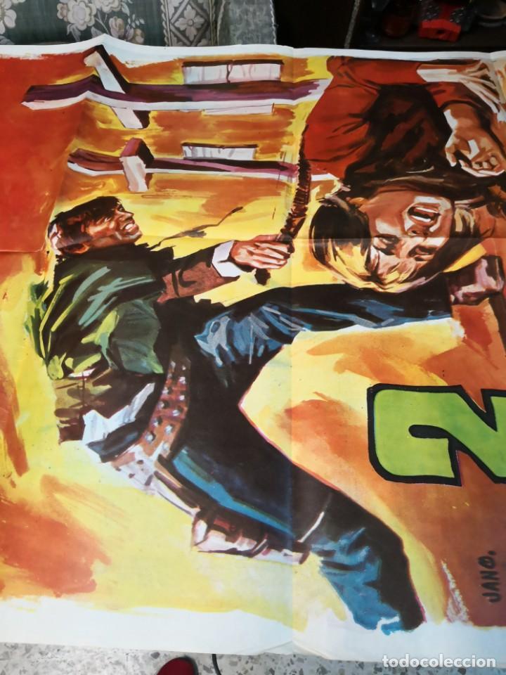 Cine: 2 CRUCES EN DANGER PASS ROMERO MARCHENT PETER MARTELL SPAGHETTI POSTER ORIGINAL 70X100 - Foto 3 - 169703548