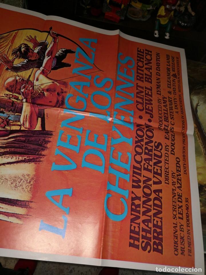 Cine: 70X100 LA VENGANZA DE LOS CHEYENNES. CARTEL DE CINE-MOVIE POSTER - Foto 2 - 169719896