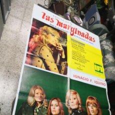 Cine: LAS MARGINADAS IQUINO ANALIA GADE DIANA LORYS SIMON ANDREU POSTER ORIGINAL 70X100 . Lote 169763784