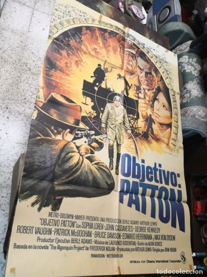 OBJETIVO PATTON - CARTEL POSTER ORIGINAL - SOPHIA LOREN JOHN CASSAVETES 2ª GUERRA MUNDIAL JOHN HOUGH (Cine - Posters y Carteles - Bélicas)
