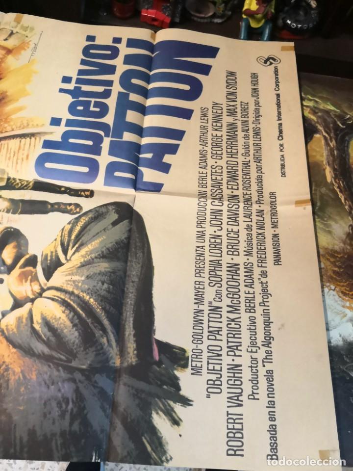 Cine: objetivo patton - cartel poster original - Sophia Loren John Cassavetes 2ª guerra mundial John Hough - Foto 2 - 169764564