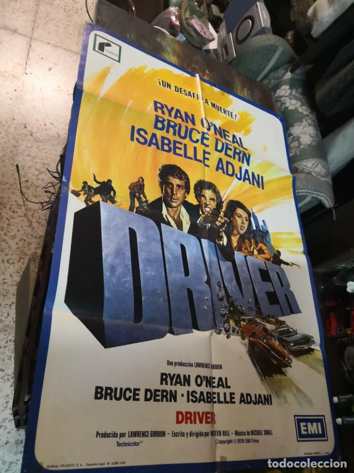 DRIVER - POSTER CARTEL ORIGINAL - WALTER HILL RYAN O`NEAL ISABELLE ADJANI BRUCE DERN (Cine - Posters y Carteles - Acción)