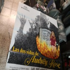 Cine: LAS DOS VIDAS DE AUDREY ROSE - POSTER CARTEL ORIGINAL - MARSHA MASON ANTHONY HOPKINS ROBERT WISE. Lote 169770164