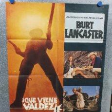 Cine: QUE VIENE VALDEZ. BURT LANCASTER, SUSAN CLARK AÑO 1971. POSTER ORIGINAL . Lote 169906612