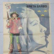 Cine: LA REINA CRISTINA DE SUECIA - CARTEL ORIGINAL - GRETA GARBO.. Lote 169929736