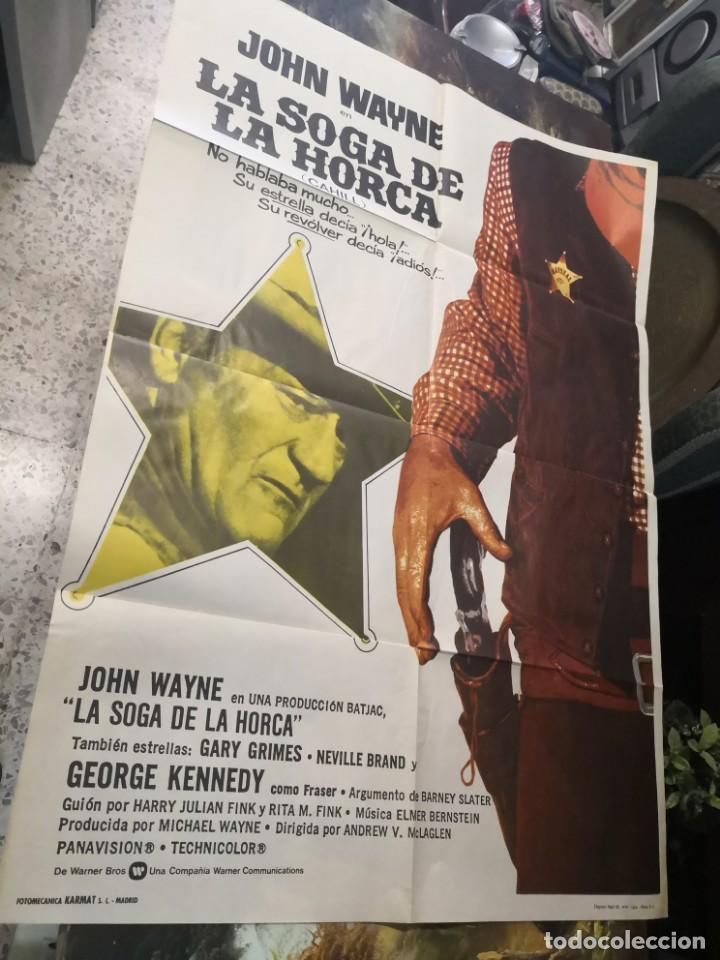 LA SOGA DE LA HORCA. JOHN WAYNE. CARTEL ORIGINAL 1974. 100X70 (Cine - Posters y Carteles - Westerns)