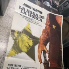 Cine: LA SOGA DE LA HORCA. JOHN WAYNE. CARTEL ORIGINAL 1974. 100X70. Lote 169962684