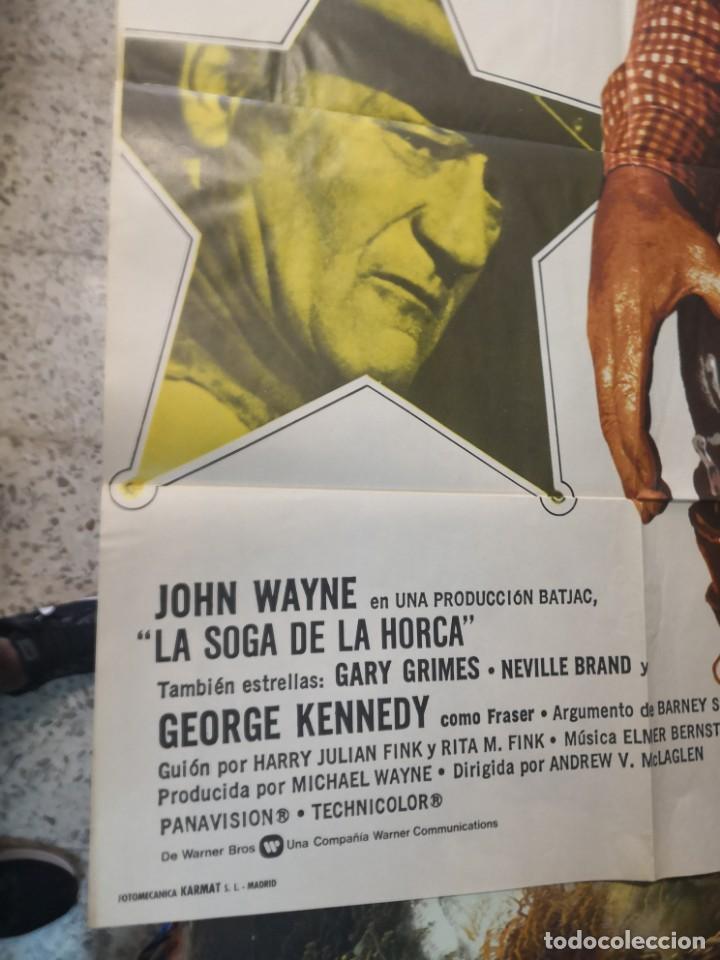 Cine: LA SOGA DE LA HORCA. JOHN WAYNE. CARTEL ORIGINAL 1974. 100X70 - Foto 2 - 169962684