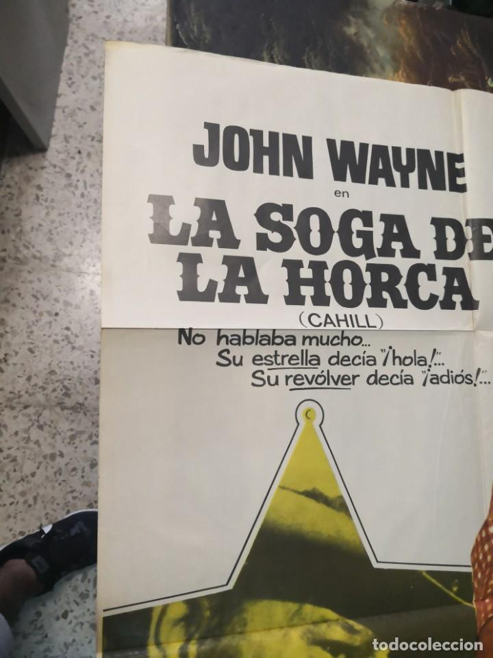 Cine: LA SOGA DE LA HORCA. JOHN WAYNE. CARTEL ORIGINAL 1974. 100X70 - Foto 4 - 169962684