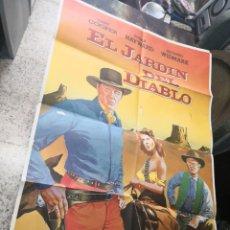 Cine: EL JARDÍN DEL DIABLO GARY COOPER HAYWARD POSTER ORIGINAL 70X100. Lote 169963204