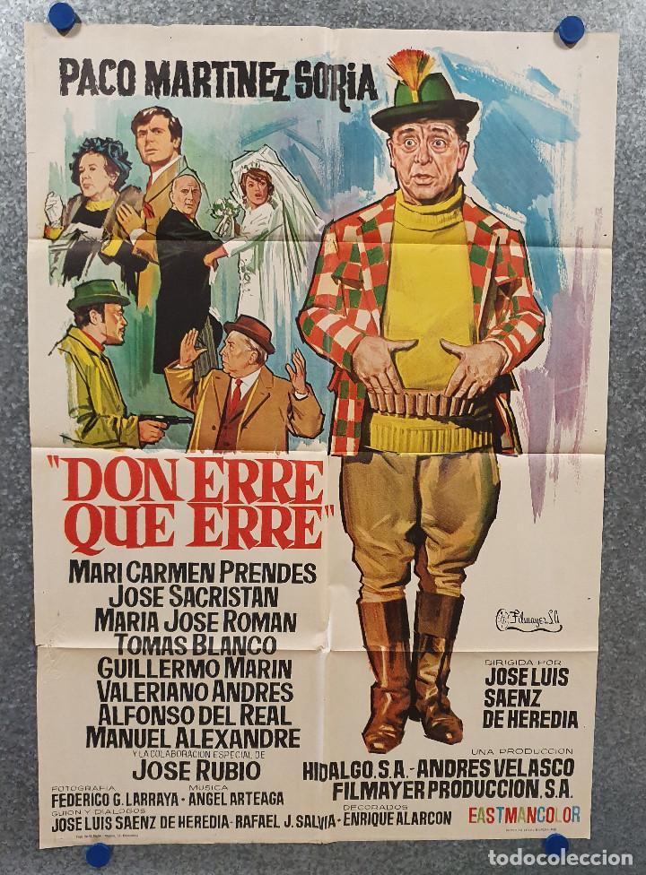 DON ERRE QUE ERRE. PACO MARTÍNEZ SORIA, MARI CARMEN PRENDES AÑO 1970 POSTER ORIGINAL (Cine - Posters y Carteles - Clasico Español)