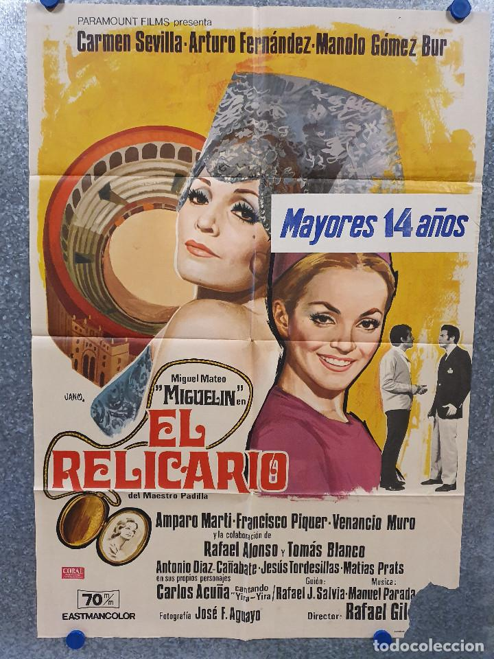 EL RELICARIO. CARMEN SEVILLA, ARTURO FERNÁNDEZ, TOMÁS BLANCO AÑO 1970 POSTER ORIGINAL (Cine - Posters y Carteles - Clasico Español)
