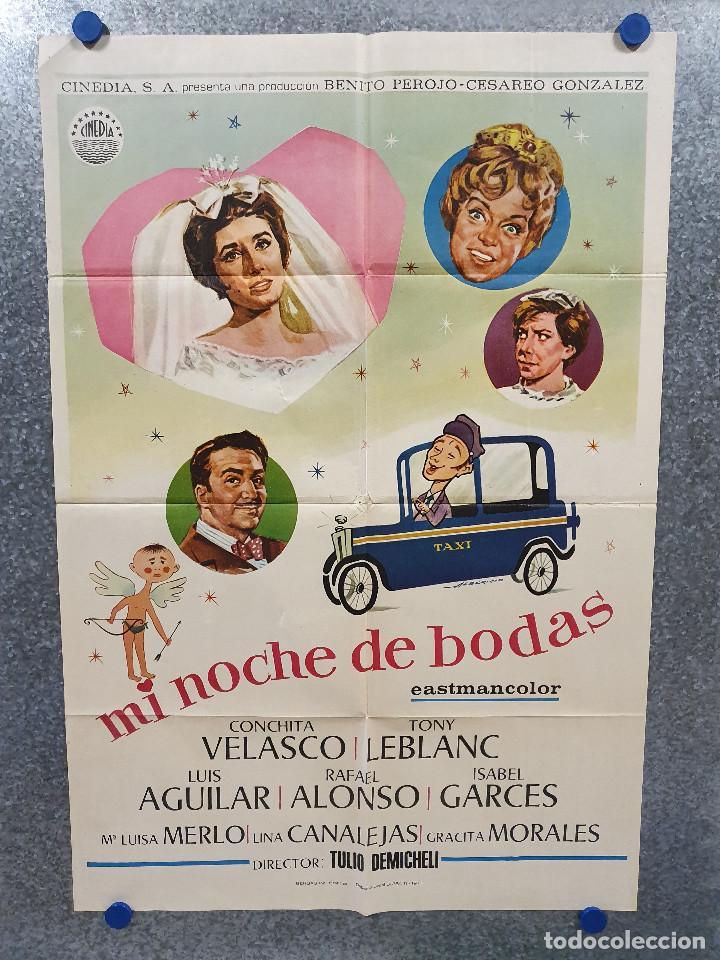MI NOCHE DE BODAS. CONCHA VELASCO, RAFAEL ALONSO, LUIS AGUILAR AÑO 1971 POSTER ORIGINAL (Cine - Posters y Carteles - Clasico Español)
