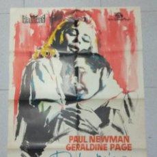Cine: DULCE PAJARO DE JUVENTUD - CARTEL ORIGINAL 1963 - PAUL NEWMAN - GERALDINE PAGE. Lote 170024892