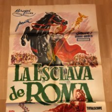 Cine: CARTEL O POSTER LA ESCLAVA DE ROMA.ROSSANA PODESTA GUY MADISON MARIO PETRI.BALONGA CASSAR. Lote 170135470