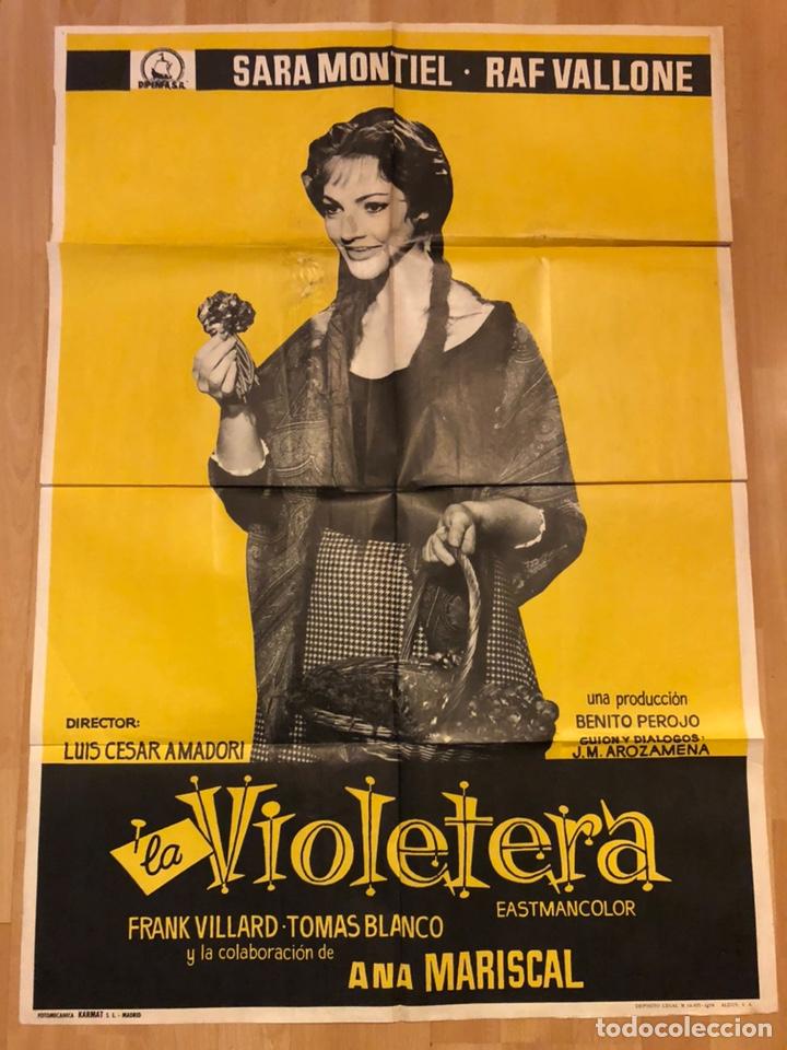 CARTEL O POSTER LA VIOLETERA.SARA SARITA MONTIEL (Cine - Posters y Carteles - Clasico Español)