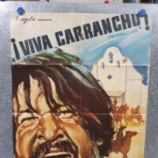 Cine: ¡VIVA CARRANCHO! ROBERT WOODS, FERNANDO SANCHO, LUIS DÁVILA AÑO 1966 POSTER ORIGINAL. Lote 170199984