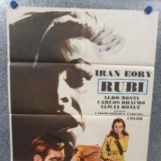Cine: RUBÍ. IRÁN EORY, ALDO MONTI, CARLOS BRACHO, ALICIA BONET AÑO 1972. POSTER ORIGINAL. Lote 170201380