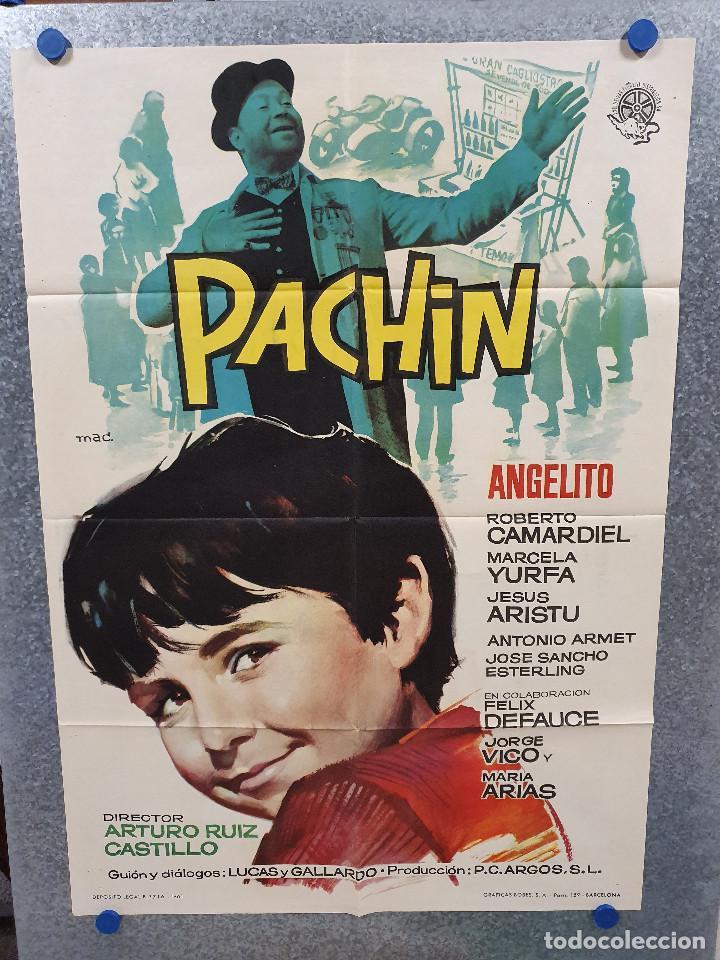 PACHIN. ANGELITO, ROBERTO CAMARDIEL. AÑO 1961. POSTER ORIGINAL (Cine - Posters y Carteles - Clasico Español)