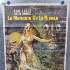 Cine: LA MANSIÓN DE LA NIEBLA IDA GALLI, ANALÍA GADÉ, LISA LEONARDI. AÑO 1972. POSTER ORIGINAL. Lote 170204056