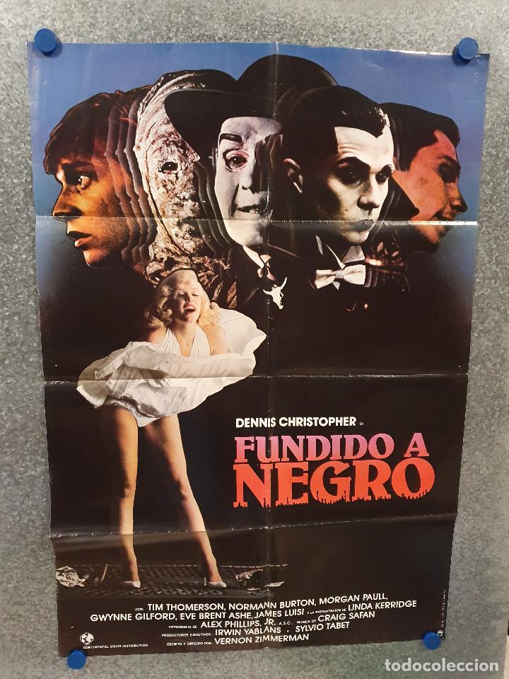 FUNDIDO A NEGRO. DENNIS CHRISTOPHER, GWYNNE GILFORD, MICKEY ROURKE AÑO 1982. POSTER ORIGINAL (Cine - Posters y Carteles - Terror)