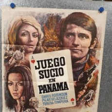 Cine: JUEGO SUCIO EN PANAMÁ. CHRIS ROBINSON, PILAR VELÁZQUEZ, TERESA GIMPERA AÑO 1974. POSTER ORIGINAL. Lote 170211956